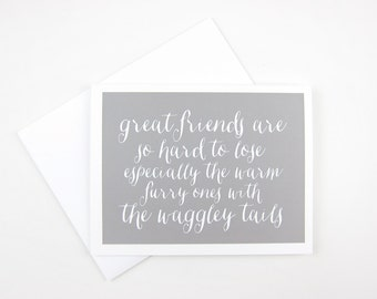 Waggley Tail: Pet Sympathy Card