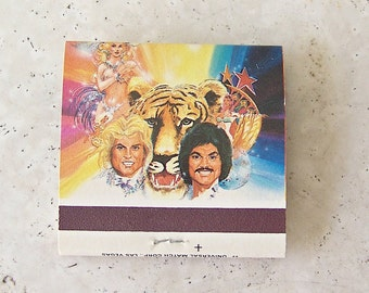 Vintage Siegfried & Roy Matchbook Souvenir Beyond Belief Frontier Hotel and Casino Las Vegas Strip Nevada Resort Souvenir NOS ca. 1985