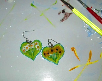 Daisy Susan Mismatched Upcycled Earrings