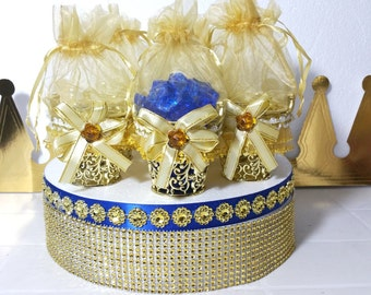 12 NEW Gold Basket Design Favors   Royal Prince Baby Shower Favors And  Decorations / Perfect