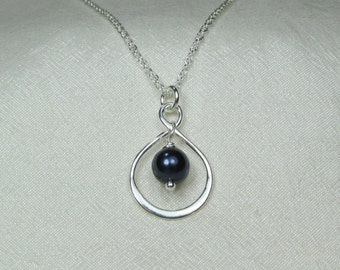 Bridesmaid Jewelry Set of 4 Bridesmaid Gift Pearl Necklace Bridesmaid Necklace Infinity Necklace Blue Wedding Jewelry Bridal Party Jewelry