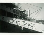 "Vintage Photo ""Headed to Alaska"" Snapshot Antique Photo Black & White Photograph Found Paper Ephemera Vernacular - 63"