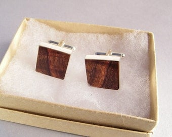Wooden Cuff Links SHIPS IMMEDIATELY Handmade Desert Ironwood Cufflinks Gifts for Dad 5th Anniversary Wood Anniversary Wood Gifts for Him