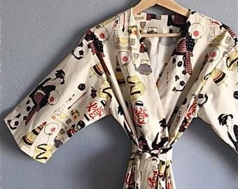 Asian Inspired Kimono Robe.  Asian Inspired Kimono.  Kimono Robe. Geisha Girl.  Geisha Kimono Robe.