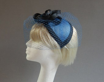 Dutch design on vintage inspired minihat with included but optional birdcage veil