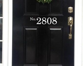 Vinyl House Numbers front door decal House Numbers for Front Door Porch Numbers Door Decal Entryway Decor Address Door Numbers