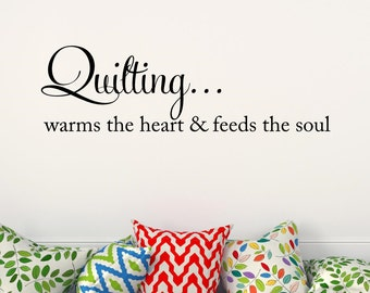 Quilting Vinyl Wall Decal Vinyl Lettering Wall Words Sewing Quilting Room Decor
