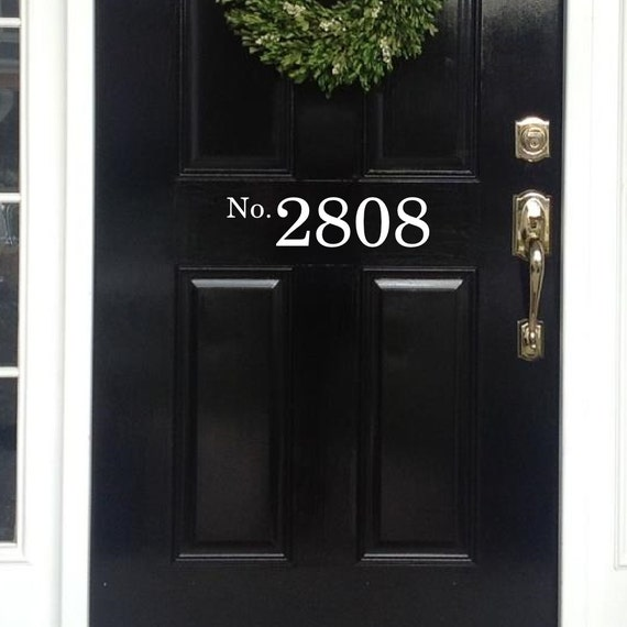 Vinyl house numbers front door decal house numbers for front for Plastic house letters