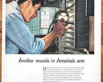 Vintage Advertisement - Western Electric Advertisement - Van Heusen Shirt Advertisement