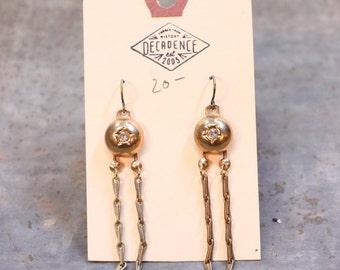 Gold Dangle Chain Earrings