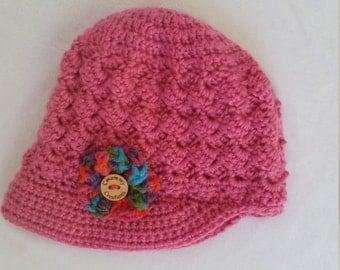Baby Girl Newsboy Hat/Cap (12-18 months)