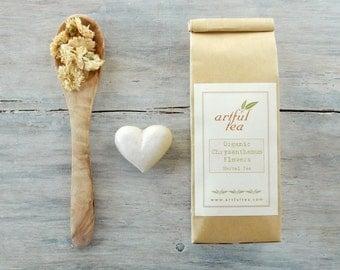 Organic Chrysanthemum Flowers Herbal Tea • 1 oz. Kraft Bag • Luxury Loose Leaf Blend