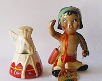 Kreiss Figurine Rare Indian Wee Little Injun With Tepee
