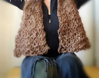 Crop Wool Vest Knitting Pattern for Yospun Yarn