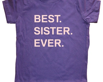 Big Sister / Little Sister T Shirt - Kids Sister Tshirt - Big Sister Shirt - 7 Colors - Sizes 2T, 4T, 6, 8, 10, 12 - Gift Friendly