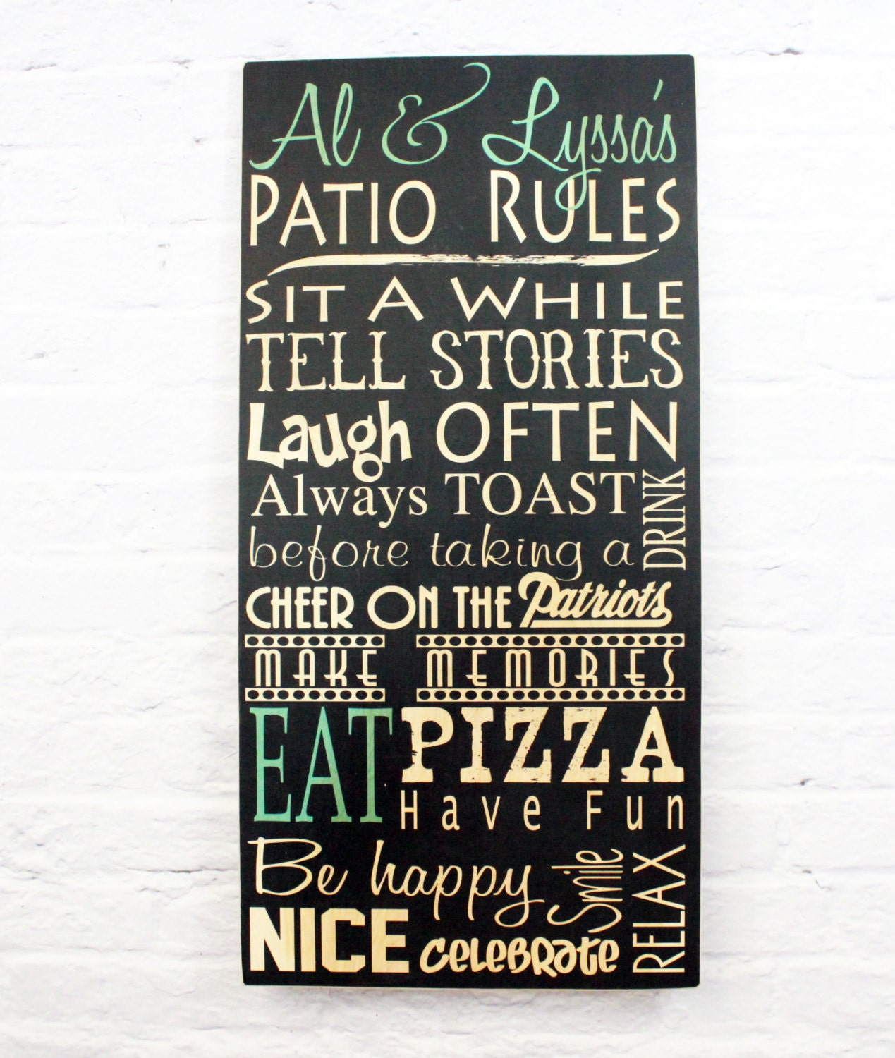 Patio Rules Outdoor Sign: Patio Rules Outdoor Sign Personalized Family Pool Rules