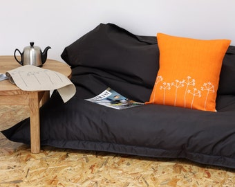 Orange flowers pillow cover