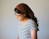 Chocolate Brown Long Stretch Knit Headcovering | Women's Headcovering Veil