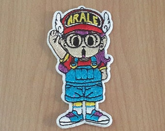 "Arale Doctor Slump Manga Anime Embroidered Iron on Patch size 1 1/2"" x 3"""