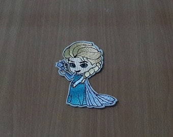 "Elsa Patch Frozen Patch Iron on Patch size 2 1/2"" x 3 1/4"""