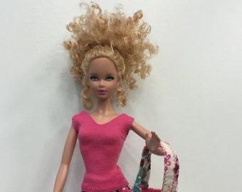 Barbie shirt pink watermelon handmade Barbie clothes