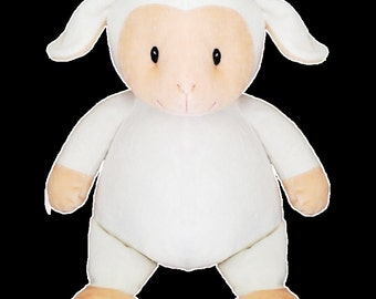 Personalized Cubbie Lamb Cubbies Stuffed Animal Baby Gift Christening Monogrammed
