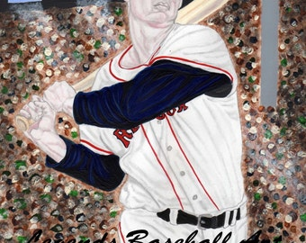 Ted Williams Limited Edition 8.5X11 Art Print
