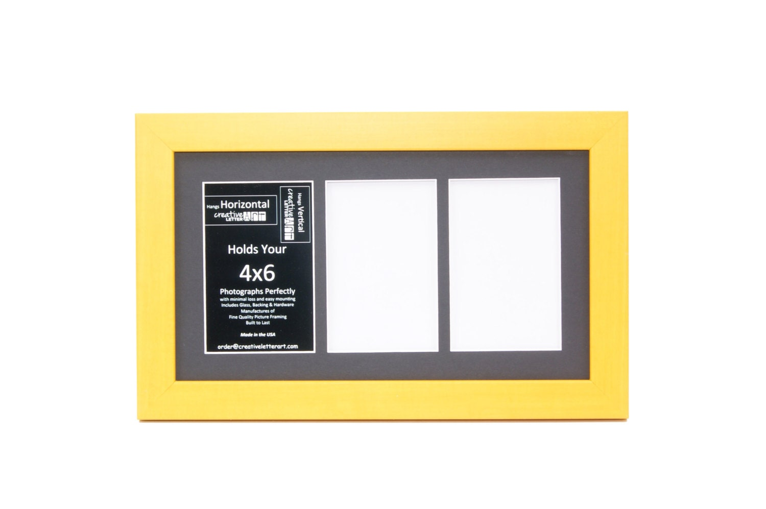 Yellow Picture Frame With 3 4 5 6 7 8 9 10 Multi Opening