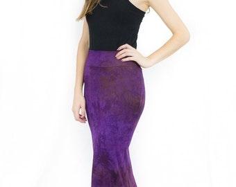 Purple high waisted skirt festival long skirt maxi skirt boho steampunk skirt bohemian skirt best friend gift mothers day gift mermaid