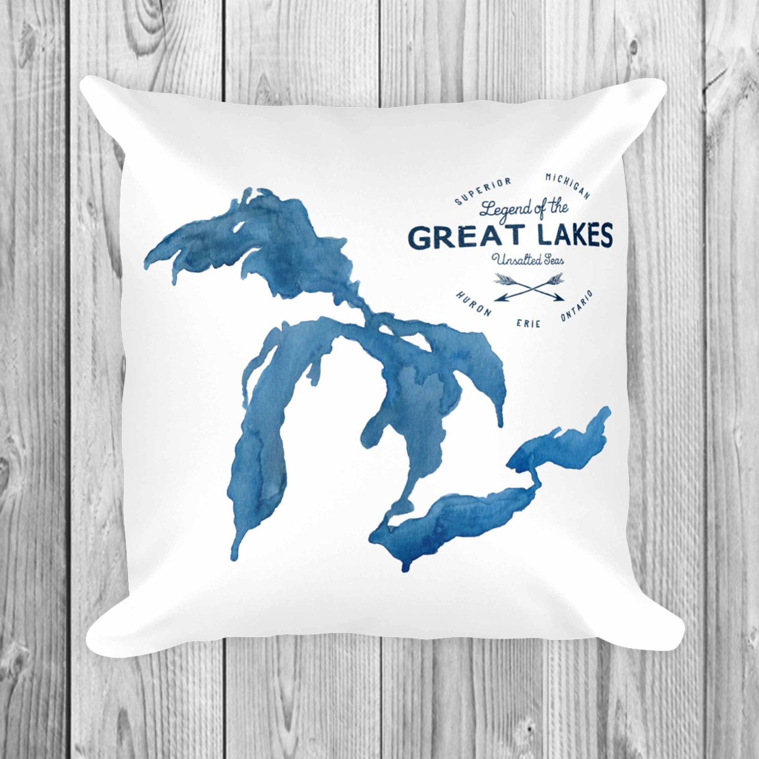 Great Lakes Unsalted Pillow Throw Pillow Home Decor