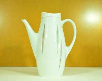 Mid Century Mod Ceramic Thomas of Germany Coffee Carafe Designed by Swedish Prince Sigvard Bernadotte