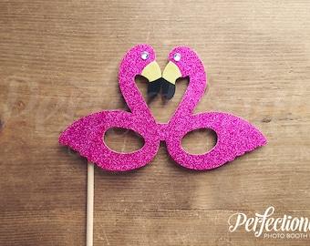 Pink Glitter Flamingo Glasses Prop | Hot Pink Flamingo | Flamingo Props
