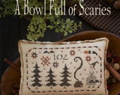 NEW Scary One Limited Edition Kit : A Bowl Full of Scaries Plum Street Samplers Paulette Stewart counted cross stitch patterns