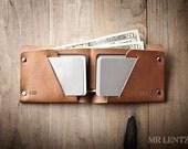 Men's Wallet, Mens Leather Wallet, Minimal Leather Wallet, Thin leather wallet, Leather Bifold 013