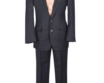 Exceptional Quality 40S Charcoal Two Piece Gentry Suit