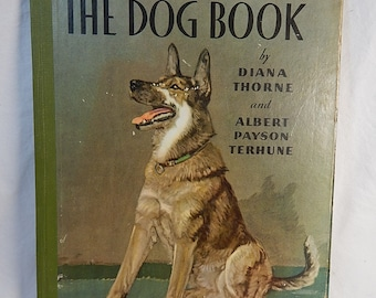 German Shepherd Dog Book Cover Diana Thorne Papercraft Project Supply Wall Decor