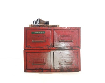 Vintage Industrial Metal File Cabinet, Industrial Storage