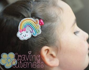 Rainbow Hair Clip, Badge Reel, Planner Accessory, or Book Mark - Meet Miss Couleur