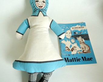 Vintage Amish Doll Mattie Mae With Book Herald Press 1971