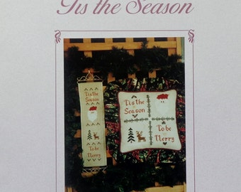 Lindy Jane Designs Cross Stitch Pattern TIS THE SEASON Bellpull By Melinda Billam