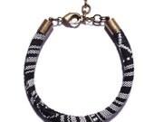 Tribal Cord bracelet for men. Jewelry for men. Adjustable chain bracelet. Surfer style layering bracelet. Made in the USA.