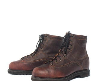 9 D | Men's Iron Age Steel Toe Work Boots