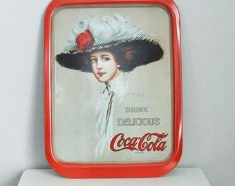 Coca Cola Metal Tray Gibson Girl Vintage
