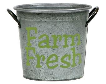 SALE! Farm Fresh Kitchen Storage Bucket