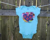 12 Mo. PHISH ONESIE Phunky Hippie Baby Gift Cupcake Fishman, ready-to-ship, ooak,  Free gift wrap option