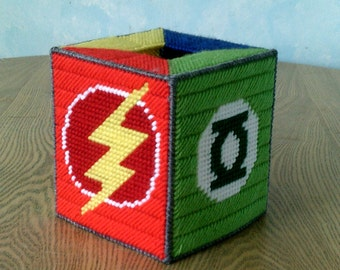 Multi Superhero Tissue Box Cover