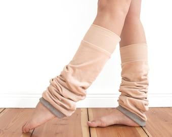 slouchy leg warmers, dancer leg warmers, 100% cotton leg warmers, yoga socks, printed