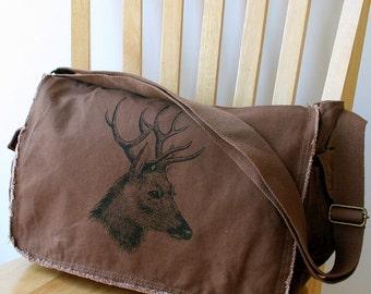 Deer Canvas Messenger Bag Laptop Bag for Men Bag for Women