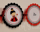 Queen of Hearts High Chair Banner Decoration