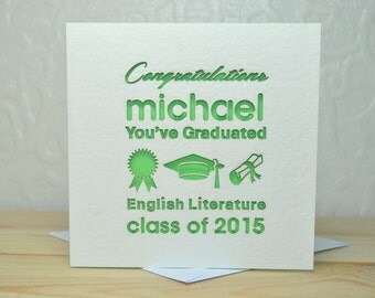 You've Graduated Personalised Laser Cut Card